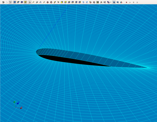 Sample Mesh of NACA Airfoil Image