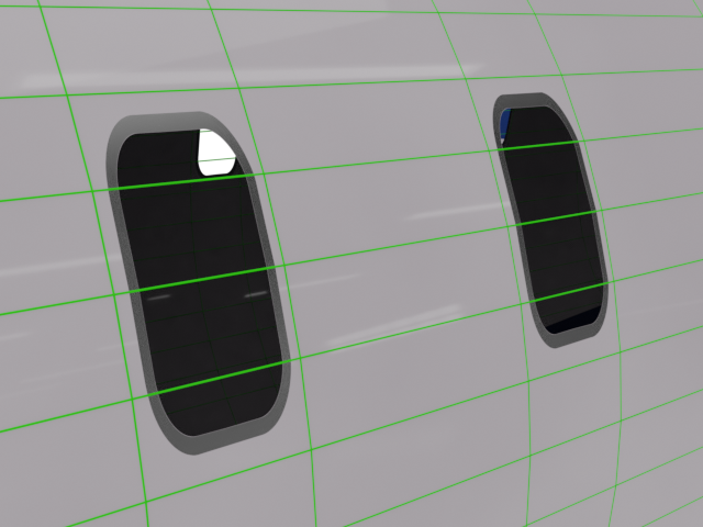 Passenger Window Wireframe Geometry